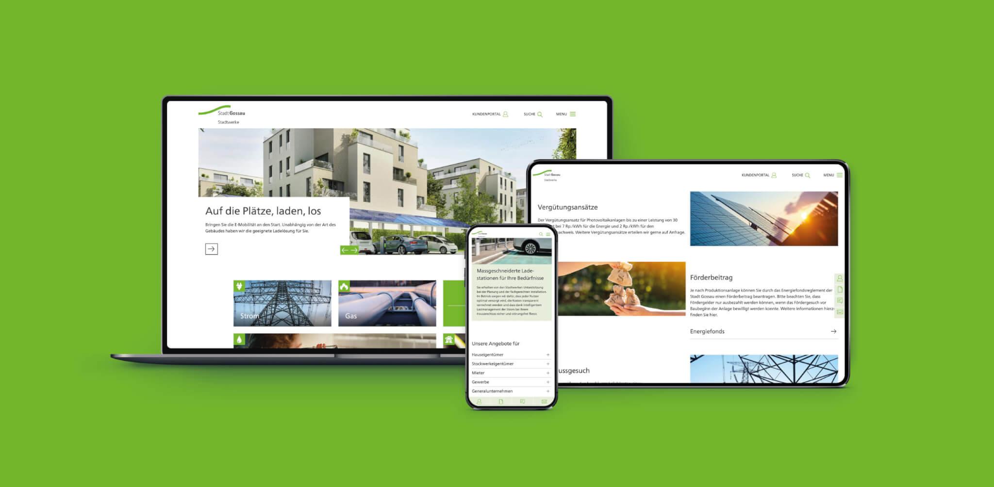 Startseite Projekte Stadtwerke Gossau